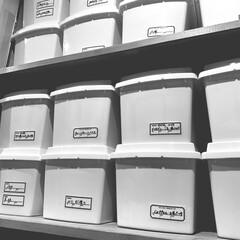 パントリー収納/パントリー/収納/雑貨/インテリア/ダイソー/... パントリー収納。 ダイソーのボックスが大…