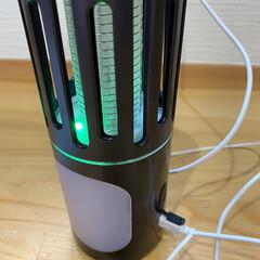 殺虫/虫除けグッズ/虫対策/虫除け/虫よけ USBで簡単充電できる、殺虫灯。 携帯で…