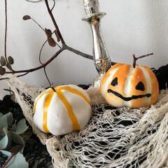 ハロウィンインテリア/スクイーズ/ガラス絵の具/ハロウィン/ハンドメイド ジャックオランタン&かぼちゃのハロウィン…
