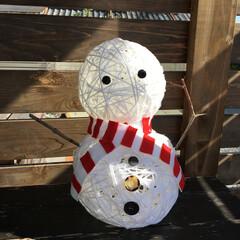 イルミネーション/スノーマン/クリスマス/ハンドメイド/雑貨/100均/... 雪だるまの形の大きな大きなコットンボール…