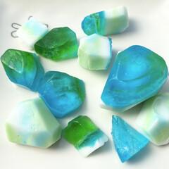 宝石石鹸/宝石石けん/ジュエルソープ/DIY/ハンドメイド/100均/... セリアの材料で作る宝石せっけん。夏休みの…
