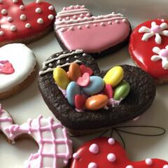 バレンタイン/バレンタインラッピング/バレンタインレシピ/バレンタイン2020 バレンタインレシピ♡100均材料でアイシ…