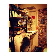 ブルックリン/リノベーション/リメイクシート/キッチン キッチン周りのリメイク