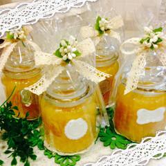 セリア/レシピ/ラッピング 手作り柚子ジャムをセリアの瓶に… 毎年 …