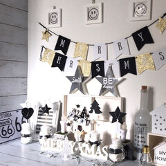 セリア/3COINS/salut!/キャンドゥ/白黒インテリア/白黒雑貨/... 白黒クリスマスインテリア☆☆☆