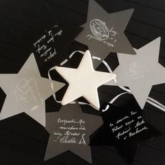キャンドゥ/白黒/モノトーン/星型/100均/転写シール/... 星の形にハマりつつある今日この頃(*´艸…