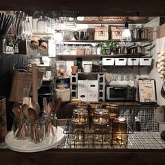 調味料/キッチンツール/キッチン道具/見せる収納/賃貸/キッチン雑貨/... すぐ使えるようにと横着なあたしはほとんど…