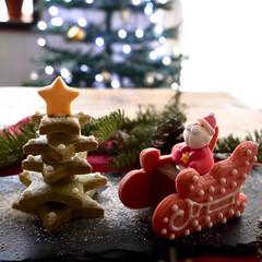 クッキー/ツリーのクッキー/おすすめ/組立キット/組み立てキット/クリスマス2019/... ツリーとソリのクッキー✨ 組み立てただけ…