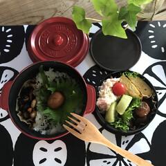 COCOPOT ランチ レッド | 竹中(弁当箱)を使ったクチコミ「新しいお弁当箱だと作るのも食べるのも楽し…」