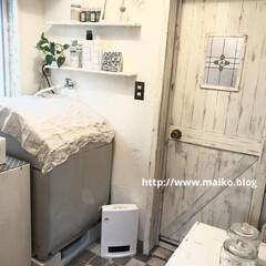山善 セラミックヒーター ホワイト DF-J121 | 山善(電気ストーブ)を使ったクチコミ「もちろん洗面所もdiyしました! 元々は…」