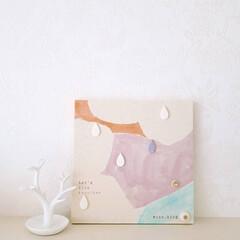 樹脂粘土/ファブリックボード/ファブリックパネル/ふぁぶりっく/フォロー大歓迎 イメージ【とき・3巻】  色合いはクール…