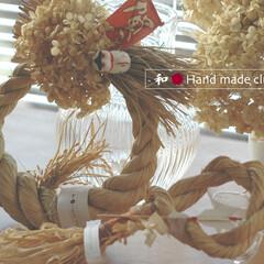しめ飾り/伝統的な/わら/和 しめ飾りはナチュラルテイストで、なおかつ…