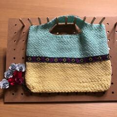 バッグインバッグ/かぎ針編み/雑貨/ハンドメイド/100均 またまたバッグインバッグ😅 ラクマ出品中😊(1枚目)