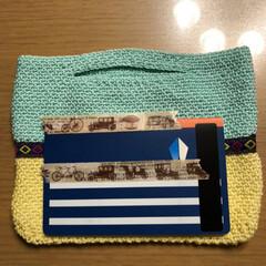 バッグインバッグ/かぎ針編み/雑貨/ハンドメイド/100均 またまたバッグインバッグ😅 ラクマ出品中😊(2枚目)