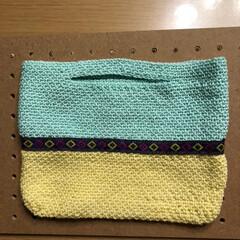 バッグインバッグ/かぎ針編み/雑貨/ハンドメイド/100均 またまたバッグインバッグ😅 ラクマ出品中😊(3枚目)