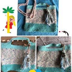 かぎ針編み/バッグインバッグ/雑貨/ハンドメイド/100均/雑貨だいすき バッグインバッグ作ってみました。
