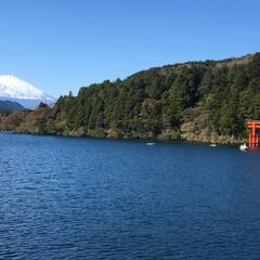女2人旅/富士山/箱根神社⛩/旅/景色 良い感じで撮れましたぁ(≧∀≦)