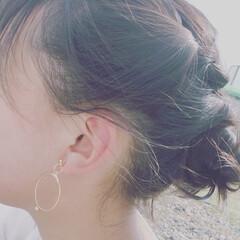 つまみ細工頑張りました!/スタイリストは母(笑)/夏コーデ/ファッション/ハンドメイド/おでかけ 夏まりに出掛ける髪の毛セット 毎年恒例わ…