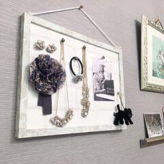 壁紙/DIY/コルクボード/リメイク/エレガント コルクボードに壁紙を貼ってDIY。 エレ…(1枚目)