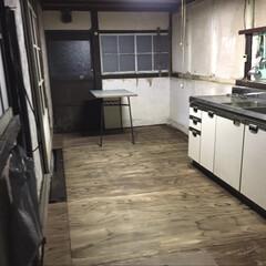 DIY/古民家/床/構造合板/防腐塗料 1枚目、床を張り替えてみました。 2枚目…