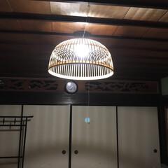 和風インテリア 和室照明をLEDにする際、傘をつけてみま…