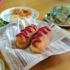 韓国フード/チーズドッグ/フード 韓国好きの娘たちのリクエストに応えて、初…