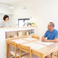 壁付け/L型キッチン/Ⅱ型キッチン/対面キッチン/キッチンレイアウト/キッチン配置/... 壁付けのL型キッチンから、Ⅱ型の対面キッ…