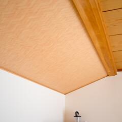 竹編み/柄クロス/天井/クロス/デザイン/内装/... 竹編み模様の天井クロスが和の雰囲気を醸し…