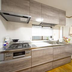 システムキッチン/クリナップ/ラクエラ 木の素材感がおしゃれなキッチン 高砂市M…