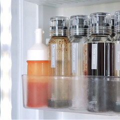収納/整理整頓/すっきり暮らす/シンプルモダン/シンプルな暮らし/シンプルインテリア/... 冷蔵庫の調味料ボトルとオイルボトルのラベ…(2枚目)
