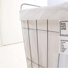 洗濯かご/シンプルな暮らし/シンプルインテリア/洗濯アイテム/洗濯/ランドリーバスケット/... 新しいランドリーバスケットを購入♪ wi…