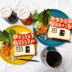朝ごはん/ワンプレート/おうちカフェ/おうちごはん/ふたりごはん/暮らし/... STAY HOME。 家でゆっくり楽しい…