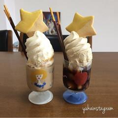 パフェ/ソフ/アイスクリーム/デザート/おうちカフェ/おやつ/... こんにちは☺︎ 暑い日にはかかせないアイ…