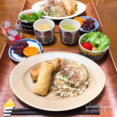 和食ご飯/おうちごはん/ふたりごはん/セリア/100均/無印良品/... かなり前のご飯。 まだ暑い時だったので炒…