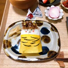 おうちごはん/和食ご飯/恵方巻き/セリア/100均/無印良品/... 鬼ぎり。 不器用な私ですが私なりになんと…
