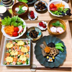 ふたりごはん/おうちごはん/おうちカフェ/和食/ひな祭り/セリア/... ひなまつり。 ちらし寿司とはまぐりのお吸…