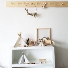 割り箸/子どもと暮らす/ティピー/ティピーテント/インテリア/DIY/... 子供部屋にティピーテントを作ってみたいと…