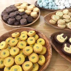 クッキー缶/大量生産/焼き菓子/アイスボックスクッキー/スノーボール/お菓子作り/... *2019.2.15* こんばんは(*´…