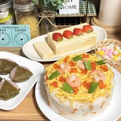 チョコテリーヌ/ちらし寿司ケーキ/ケーキ寿司/ちらし寿司/おいり/桜餅/... *2020.3.4* おはようございます…