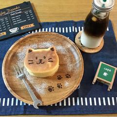 ツートンドリンク/パンケーキ/おやつ作り/おやつ/おうちカフェ/手芸/... 先程の100均アイテムを使って作ったねこ…