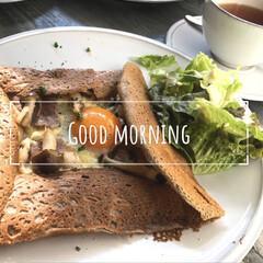 朝ごはん/モーニング/ガレット/フォロー大歓迎/旅行/グルメ/... 京都旅行中に食べたガレット♡  いつもと…