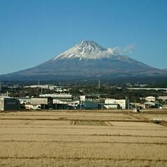車窓/帰省/新幹線/富士山/おでかけ 実家に帰省した帰りの新幹線から。  いつ…(1枚目)
