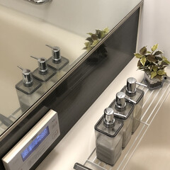 tower/バスルーム/詰め替え容器/詰め替えボトル/ニトリ購入品/収納/... 詰め替えボトルを交換しました! カパッと…
