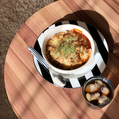 おうちランチ/お昼ごはん/ミートドリア/ダイエット/フォロー大歓迎/わたしのごはん/... 今日のお昼ごはんはミートドリア。 もうめ…(1枚目)