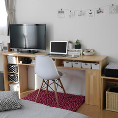DIY/手作りデスク/寝室/デスク周り/パソコンデスク/昔の寝室 こちらも懐かしい1枚。 このデスクも夫が…