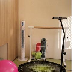 バランスボール/ヨガマット/バレエバー/トランポリン/和室ですが/トレーニング部屋 リビング隣の部屋が、いつの間にか筋トレ部…