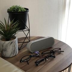 Bluetoothスピーカー/メガネ/観葉植物のある暮らし/雑貨/暮らし/ニトリ 枯れないフェイクの観葉植物、Blueto…