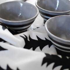 お茶話/ボーダー柄/楽天市場で購入/モノトーン/白黒/キッチン雑貨/... 私のお気に入りはボーダー柄のお茶碗でした…