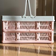 収納/収納片付け/おすすめ収納法/子供の片付け/折りたたみバスケット/収納ボックス/... ブログ更新。 一度にたくさんのものを運べ…