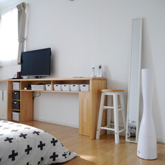寝室/DIY/手作りデスク/テレビ周り/加湿器/ミラー/... 今週は懐かしい写真をアップしています。 …
